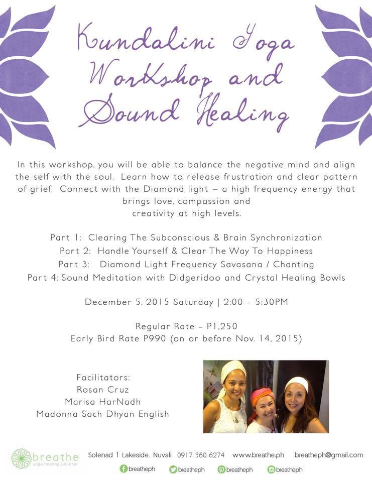 Kundalini Workshop on Dec 5