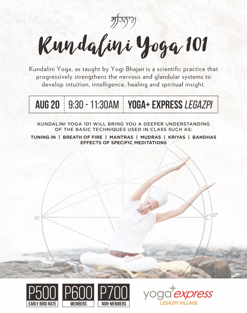 Kundalini Yoga 101 Workshop on August 20 | Kundalini Yoga Manila