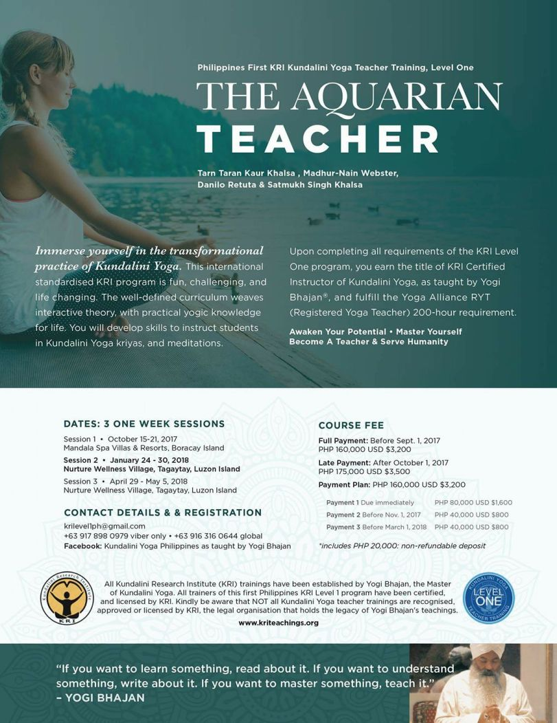 First Philippine Kundalini Yoga Teacher Training Level One