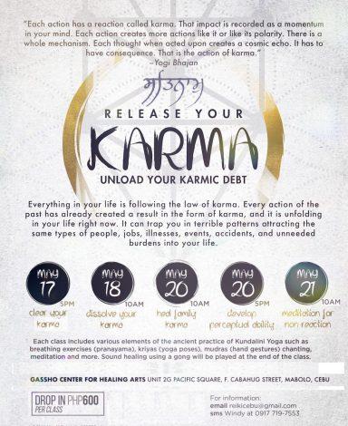 Release your Karma 5-class Kundalini Yoga Series with Rosan Cruz